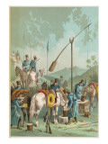 Cossacks on the March Water their Horses at a Well Giclee Print
