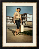 Pin-Up Girl: Ebb Tide Motel Rock-A-Billy Framed Giclee Print by Richie Fahey