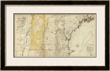 The Provinces of Massachusetts Bay and New Hampshire, Northern, c.1776 Framed Giclee Print by Thomas Jefferys