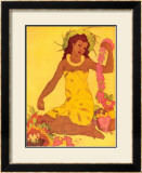 Lei Maker, Hawaii Framed Giclee Print by John Kelly