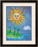 The Sun Framed Giclee Print by Nichola Moss