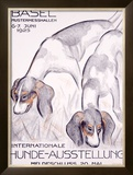 Internationale Hunde-Ausstellung Framed Giclee Print