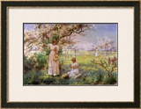 Spring, Picking Flowers Posters by Alfred Augustus Glendenning
