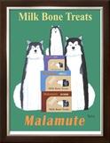 Malamute Milk Bones Limited Edition Framed Print by Ken Bailey