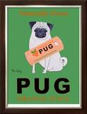 Pug Orange Juice Limited Edition Framed Print by Ken Bailey