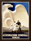 Assicurazioni Generali Venezia, 1936 Framed Giclee Print