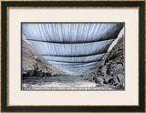 Over the River, Project for Colorado, From Below Print by Christo 