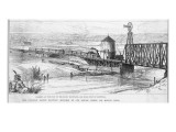 Distant View of the Rising Town from the Canadian Pacific Railway Giclee Print