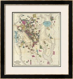 City of Seattle and Environs, c.1890 Framed Giclee Print by O. P. Anderson