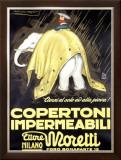 Copertoni Impermeabili Moretti Framed Giclee Print by Achille Luciano Mauzan