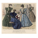 Female Dress of 1896 Giclee Print by Philip Talmage