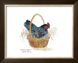 Chicken in a Basket Art by Robert A. Fleming