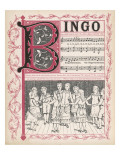 B, I, N, G, O, Oh! Bingo Was His Name Giclee Print