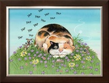 Cat-titude Framed Giclee Print by Gary Patterson