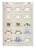 English China Tea and Breakfast Services Giclee Print