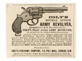 Colt's Double Action Army Revolver Giclee Print