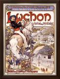 Luchon Framed Giclee Print by Alphonse Mucha