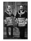 Edward VII as a Freemason Giclee Print