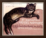 Exposition des Artistes Animaliers Framed Giclee Print by Théophile Alexandre Steinlen