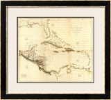 Composite: West Indies, c.1810 Framed Giclee Print by Aaron Arrowsmith