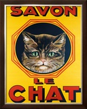 Savon le Chat Framed Giclee Print