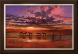 African Sunset Print by Jonathan Sanders