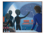 Betty Hill Abducted Aboard an Alien UFO Giclee Print by Michael Buhler