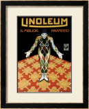 Linoleum Framed Giclee Print by Leonetto Cappiello