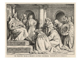 Charlemagne at His Court at Aachen Receives Gifts from Haroun Al-Raschid, Caliph of Baghdad Giclee Print