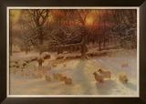 The Shortening Winter's Day Print by Joseph Farquharson