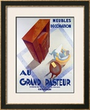 Meubles au Grand Pasteur Framed Giclee Print by C. Villot