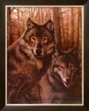 Wolves Pair Prints by T. C. Chiu