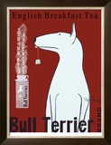 Bull Terrier Tea Limited Edition Framed Print by Ken Bailey