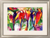 Parrot Family Poster by Alfred Gockel