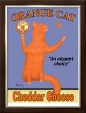 Orange Cat Limited Edition Framed Print by Ken Bailey