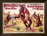 Amusements des Cowboys Framed Giclee Print