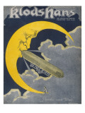 Count Zeppelin&#39;s Next Destination - the Moon! Giclee Print