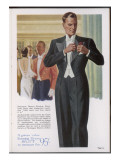 Evening Dress Suit 1938 Giclee Print