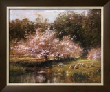 Sheep Grazing Under Apple Blossoms Posters by John Appleton Brown