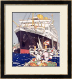 Royal Mail Line, South America Framed Giclee Print by Kenneth Shoesmith