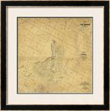 Map of The City of Los Angeles, c.1857 Framed Giclee Print by Ord, Edward Otto Cresap