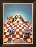 Dinner for Two Framed Giclee Print by Gary Patterson