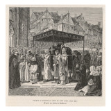 Death of Louis IX Giclee Print