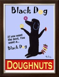 Black Dog Doughnuts Limited Edition Framed Print by Ken Bailey
