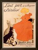 Lait Pur Sterilise Cats Framed Giclee Print by Théophile Alexandre Steinlen