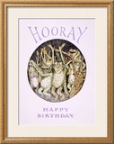 Hooray! Frog's Happy Birthday Framed Giclee Print