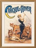 Cirque d'Hiver Framed Giclee Print by J. Boichard
