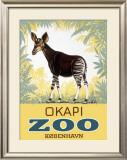 Okapi Copenhagen Zoo Framed Giclee Print