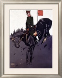 Bayerische Reiter Framed Giclee Print by Ludwig Hohlwein