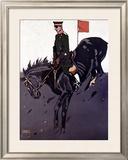 Bayerische Reiter Framed Giclee Print by Ludwig Hohlwein